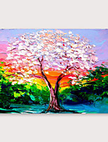 cheap -IARTS Hand Painted Pink tree Oil Painting with Stretched Frame For Home Decoration With Stretched Frame