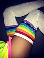 cheap -Women's Warm Stockings - Rainbow / Sexy Lady / Christmas 150D White Black One-Size