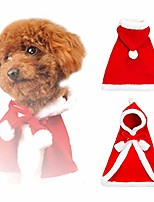cheap -christmas cloak coat for dogs and cats christmas dress up for dogs and small animals
