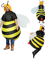 cheap -Bee Cosplay Costume Inflatable Costume Funny Costume Adults' Men's Cosplay Halloween Halloween Festival / Holiday Fabric Yellow Men's Women's Easy Carnival Costumes