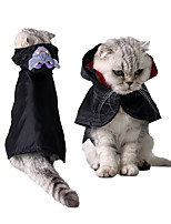 cheap -Cat Halloween Costumes Costume Shirt / T-Shirt Angel & Devil Unique Design Cute Christmas Party Dog Clothes Breathable Black Costume Cotton Polyster S M