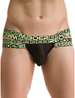 cheap -Men's 1 Piece Cut Out Briefs Underwear - Normal Low Waist Light Blue White Black M L XL