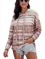 cheap -Women's Daily Pullover Hoodie Sweatshirt Tie Dye Basic Hoodies Sweatshirts  Beige Light Blue