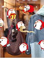 cheap -Fashion Christmas Window Electrostatic Decoration Lovely Santa Claus Wall Sticker New Year Art Home Decor