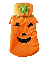 cheap -pet dog cat fleece halloween pumpkin costume