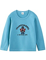 cheap -Kids Boys' Basic Blue Animal Print Long Sleeve Tee Blue