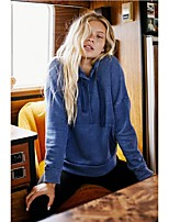 cheap -Women's Daily Pullover Hoodie Sweatshirt Solid Color Plain Basic Hoodies Sweatshirts  Blue Purple