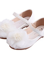 cheap -Girls' Flats Flower Girl Shoes Leather Little Kids(4-7ys) Big Kids(7years +) Walking Shoes Flower White Pink Spring Fall / TPR (Thermoplastic Rubber)