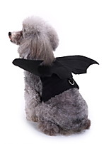cheap -Dog Halloween Costumes Costume Shirt / T-Shirt Animal Bat Cosplay Cool Christmas Party Dog Clothes Breathable Black Costume Polyester S M XL