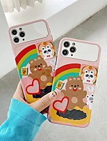 cheap -Case For APPLE iPhone 7 8 7plus 8plus XR XS XSMAX X SE 11 11Pro 11ProMax Pattern Back Cover TPU PC Mirror Heart cute bear rainbow