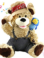 cheap -Electric Toys Stuffed Animal Plush Toy Teddy Bear Cowboy Gift Singing Interactive PP Plush Imaginative Play, Stocking, Great Birthday Gifts Party Favor Supplies Boys and Girls Baby & Toddler