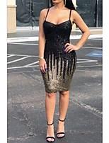 cheap -Women's Strap Dress Short Mini Dress - Sleeveless Print Spring Square Neck Sexy Party Going out Slim 2020 Black S M L XL XXL