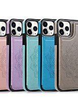 cheap -Case Apple Case For iPhone 6 6s 7 8 6plus 7plus 8plus XR XS XSMAX X SE 11 11Pro 11ProMax Embossed Back Cover Solid Colored PU Leather TPU