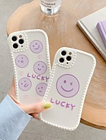 cheap -Case For Apple iPhone 7 8 plus SE 2020 X XS XR XS max  11 11 Pro 11 Pro Max Pattern Back Cover  Cartoon TPU cute LOVELY word phrase smiling face