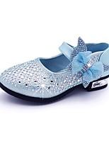 cheap -Girls' Flats Flower Girl Shoes PU Little Kids(4-7ys) / Big Kids(7years +) Walking Shoes Bowknot / Sequin Blue / Pink / Gold Spring / Summer / Party & Evening