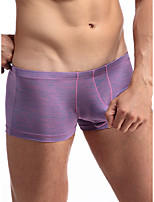 cheap -Men's Basic Boxers Underwear - Normal Low Waist Light Blue Black Purple M L XL