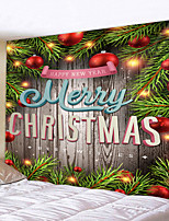 cheap -Christmas Weihnachten Santa Claus Wall Tapestry Art Decor Blanket Curtain Picnic Tablecloth Hanging Home Bedroom Living Room Dorm Decoration Christmas Tree Wooden Board Ball Polyester