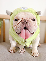 cheap -Dog Coat Character Casual / Daily Cute Casual / Daily Winter Dog Clothes Warm Green Costume Polyster S M L XL