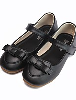cheap -Girls' Flats Flower Girl Shoes Leather Little Kids(4-7ys) / Big Kids(7years +) Walking Shoes Flower Black / Pink Spring / Fall