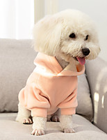 cheap -Dog Coat Hoodie Pajamas Solid Colored Casual / Daily Cute Casual / Daily Winter Dog Clothes Warm Pink Green Costume Cotton S M L XL XXL