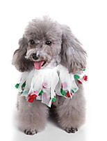 cheap -Dog Halloween Costumes Bandanas & Hats Patchwork Casual / Daily Cute Christmas Party Dog Clothes Breathable White Costume Polyster S M L