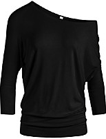 cheap -dolman tops for women sexy off the shoulder tops banded waistband shirts 3/4 sleeves regular and plus size tops (size large, khaki plaid)