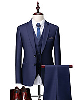 cheap -Tuxedos Standard Fit Notch Single Breasted Two-buttons Polyester Checkered / Gingham