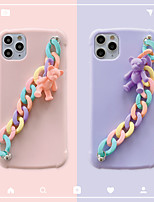 cheap -Case For Apple iPhone 7 7P iPhone 8 8P iPhone X iPhone XS XR XS max iPhone 11 11 Pro 11 Pro Max Pattern Back Cover Solid Colored Cartoon TPU