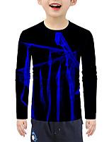 cheap -Kids Boys' Active Basic 3D Long Sleeve Tee Blue