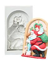 cheap -Cake Molds Christmas Silicone Cake Molds Santa Claus