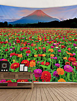 cheap -Flower Sea under Mount Fuji Digital Printed Tapestry Decor Wall Art Tablecloths Bedspread Picnic Blanket Beach Throw Tapestries Colorful Bedroom Hall Dorm Living Room Hanging