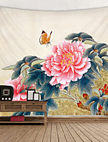 cheap -Butterfly Peony Digital Printed Tapestry Decor Wall Art Tablecloths Bedspread Picnic Blanket Beach Throw Tapestries Colorful Bedroom Hall Dorm Living Room Hanging