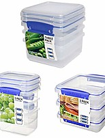 cheap -klip it 3-day meal prep lunch food storage container set, 18-piece