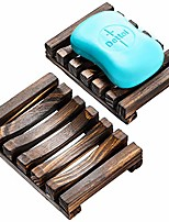 cheap -wood soap dish natural wooden sink bar soap holder soap saver hand craft for kitchen bathroom shower and counter, 3 pack
