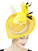 cheap -Queen Elizabeth Audrey Hepburn Retro Vintage 1950s 1920s Kentucky Derby Hat Pillbox Hat Women's Costume Hat White+Red / Coral Red / Purple Vintage Cosplay Party Prom