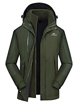 cheap -Men's Hiking Jacket Winter Outdoor Thermal Warm Windproof Breathable Soft Jacket 3-in-1 Jacket Winter Jacket Camping / Hiking Hunting Climbing Black / Red / Army Green / Grey / Dark Blue