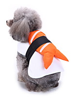 cheap -Dog Halloween Costumes Costume Shirt / T-Shirt Animal Leisure Cute Christmas Party Dog Clothes Breathable Yellow Costume Polyester S M L XL