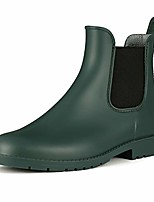 cheap -women& #39;s ankle rain boot waterproof short chelsea booties anti slip army green