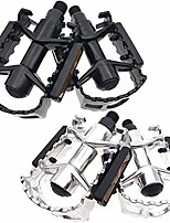 """cheap -bicycle pedals bike pedals 9/16"""" inch aluminum alloy mountain bikes road bicycles platform pedals mtb pedals (#2 aluminum-alloy silver)"""
