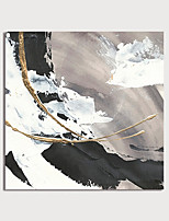 cheap -Oil Painting Paint Handmade Abstract Canvas Art White-back Gold Foil Modern Art with Stretcher Ready to Hang With Stretched Frame
