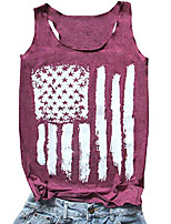 cheap -4th of july tank tops women vintage american usa flag graphic patriotic tank tops sleeveless shirts & #40;purple, small& #41;