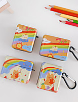 cheap -Case For AirPods 1 2 AirPods Pro Cute Pattern Lovely Headphone Case hard hearts clouds rainbow sun bear PC