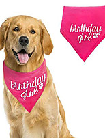 cheap -dog birthday bandana girl medium to large - pink pet scarf- birthday bandana- great for special occasion or birthday gift by  co. (medium to large, pink girl)