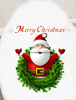 cheap -Christmas Santa Claus Wall Stickers Decorative Wall Stickers, PVC Home Decoration Wall Decal Wall Decoration / Removable