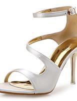 cheap -Women's Sandals Pumps Open Toe Party & Evening Office & Career Satin White / Black / Orange
