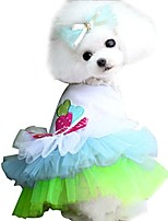 cheap -pet puppy small dog cat lace skirt princess tutu dress clothes costume … (m, green)