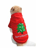cheap -pet christmas t shirt costumes, christmas pet dog puppy hoodie sweater fleece warm clothes
