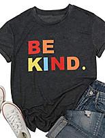 cheap -be kind shirt women teacher t-shirt cute colorful letter tees inspirational tops summer casual clothes (dark grey, xl)