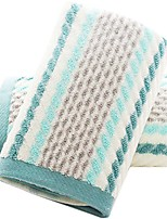 cheap -hand towels set of 2 striped pattern 100% cotton super soft highly absorbent hand towel for bathroom 13 x 28 inch & #40;green& #41;