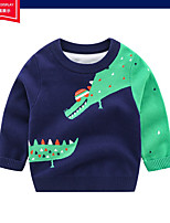 cheap -Kids Boys' Basic Solid Colored Print Long Sleeve Blouse Navy Blue